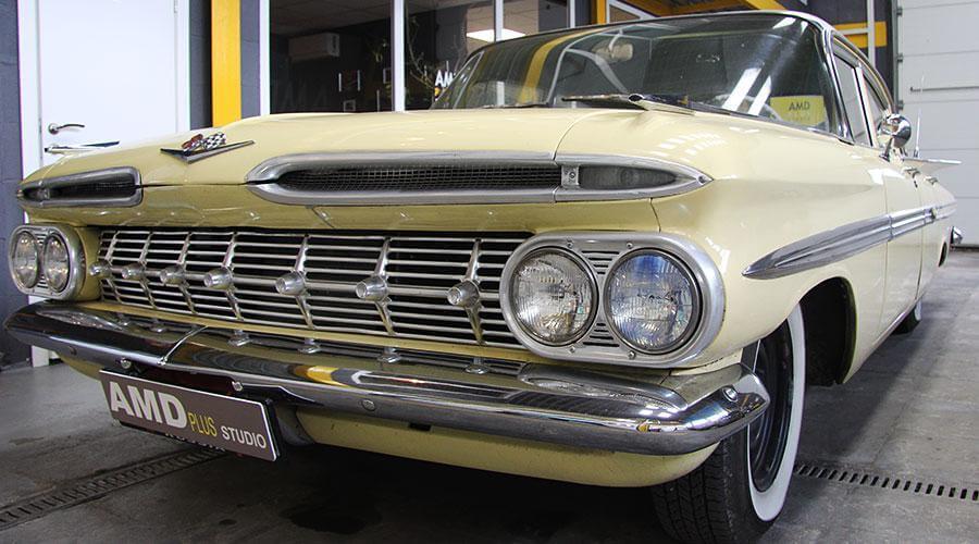 Реставрация салона ретро авто Chevrolet Impala 1959 года