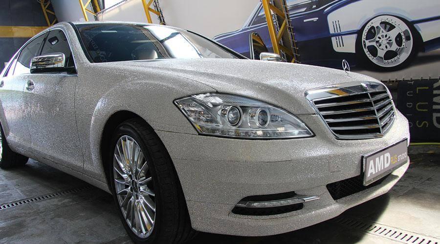 Химчистка поверхности авто Mercedes