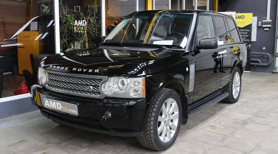 Абразивная полировка кузова Range Rover