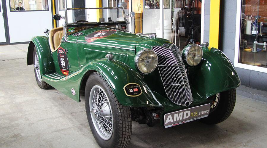 Комплексная реставрация салона ретро автомобиля Riley Sprite