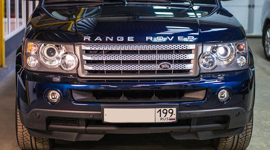 Восстановительная полировка кузова Range Rover