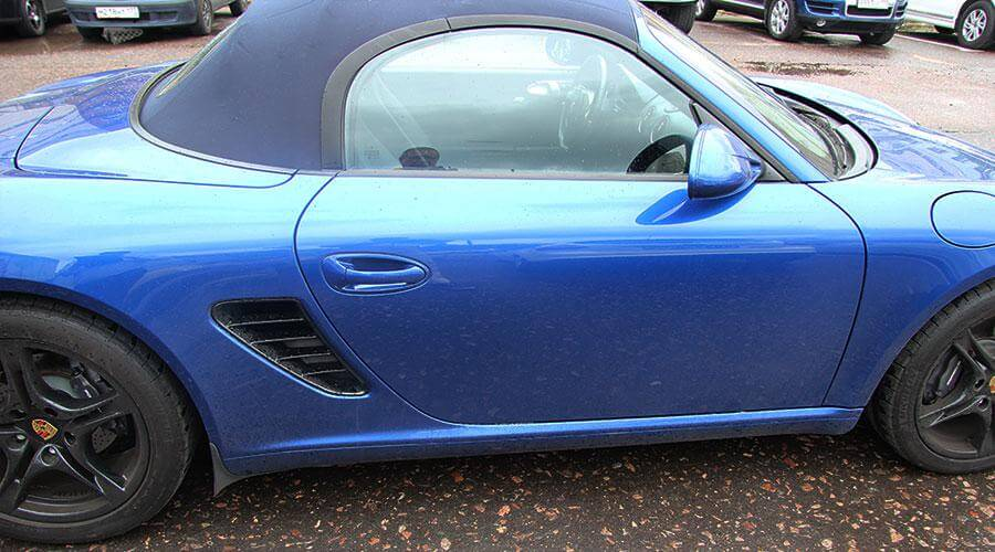 Покраска крыши кабриолета Porsche Boxster