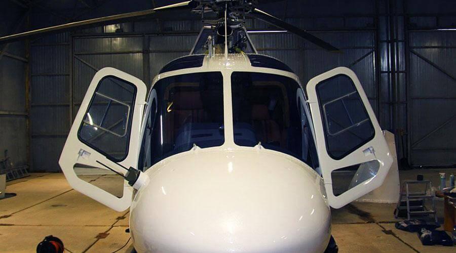 Перетяжка салона вертолёта Agusta AW119