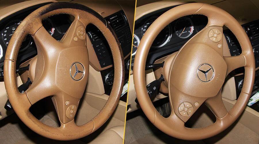Покраска обода рулевого колеса Mercedes-Benz C-180