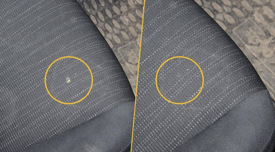 Устранение прожога на сиденье Toyota Auris