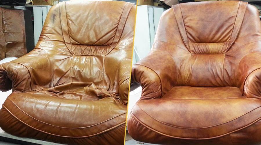 Перетяжка кресла с заменой поролона