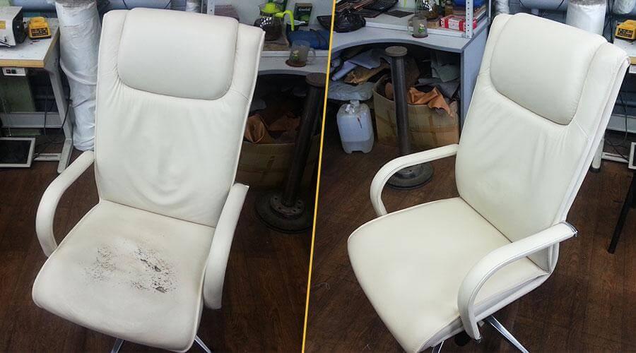 Перетяжка сиденья офисного кресла
