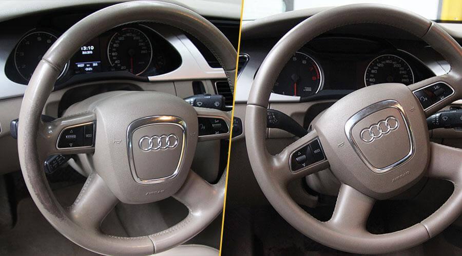 Покраска рулевого колеса Audi A4
