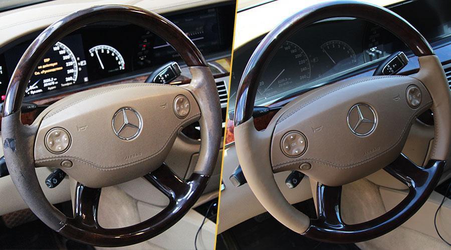Перешивка обода руля Mercedes-Benz S500