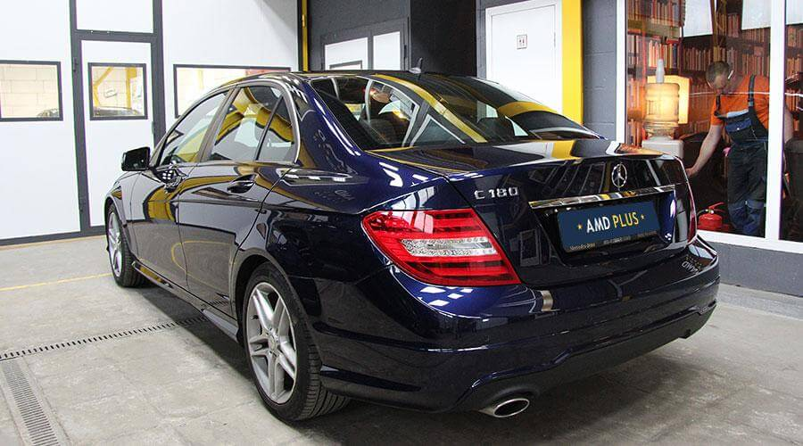 Восстановительная полировка и покрытие Opti-Coat Pro Mercedes C180
