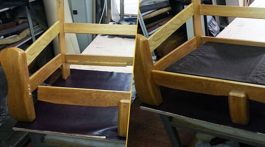 Ремонт и проклейка деревянного каркаса дивана