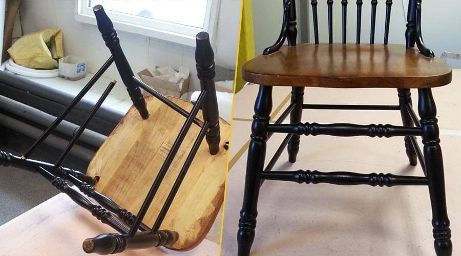 Реставрация каркаса стула