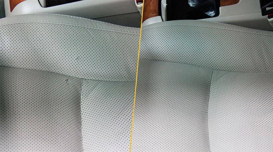 Локальный ремонт повреждений переднего кресла Lexus RX-350