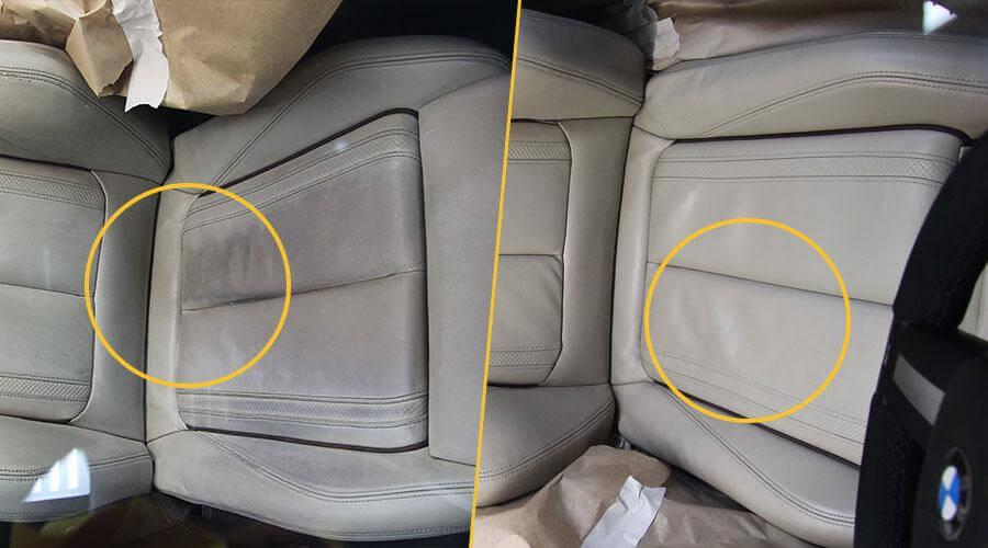 Комплексная покраска сиденья BMW