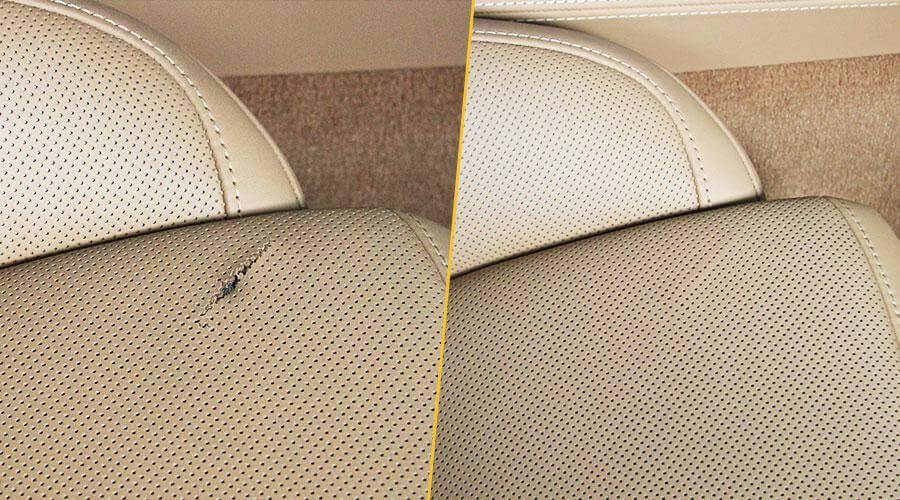Ремонт обшивки сиденья Porsche Cayenne
