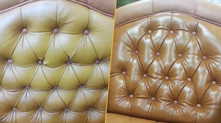 Перетяжка спинки и подлокотников кресла
