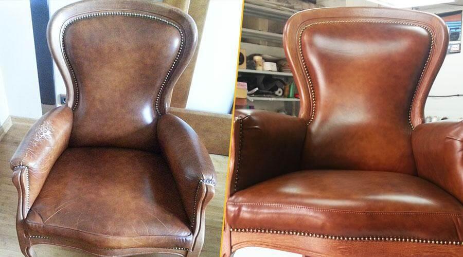 Перешивка подлокотников и сиденья кресла