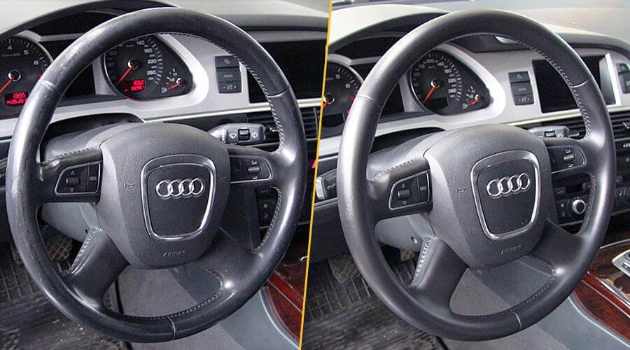 Покраска рулевого колеса Audi A6