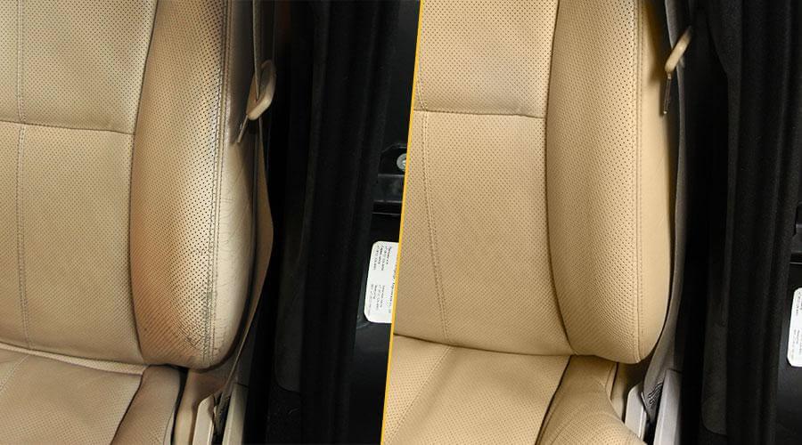 Покраска водительского сиденья Mercedes S63
