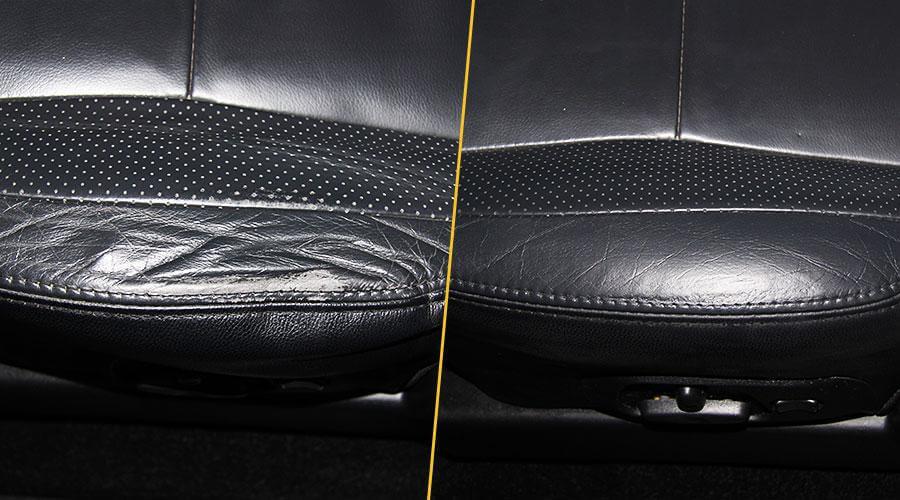 Восстановление наполнителя и покраска элемента сиденья Mitsubishi Pajero