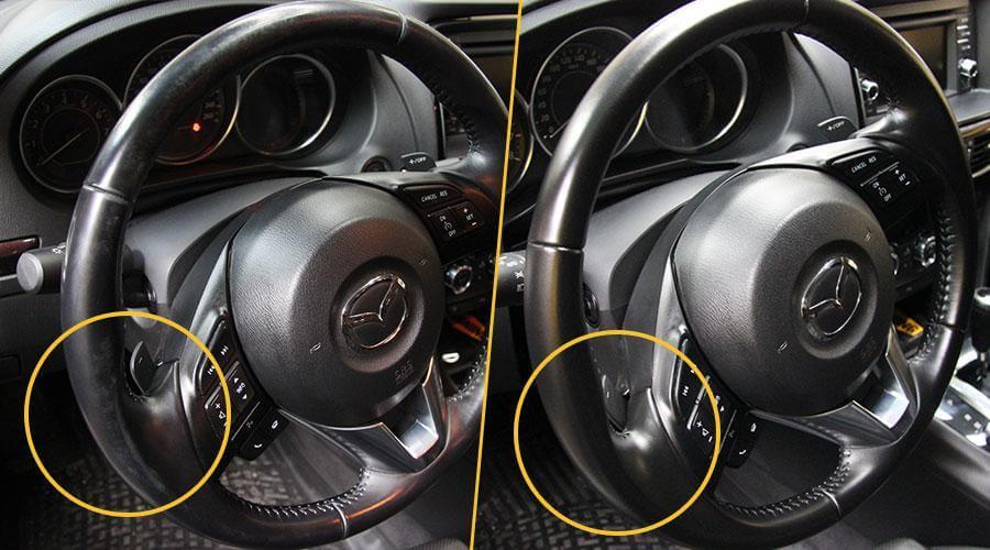 Покраска рулевого колеса Mazda 6