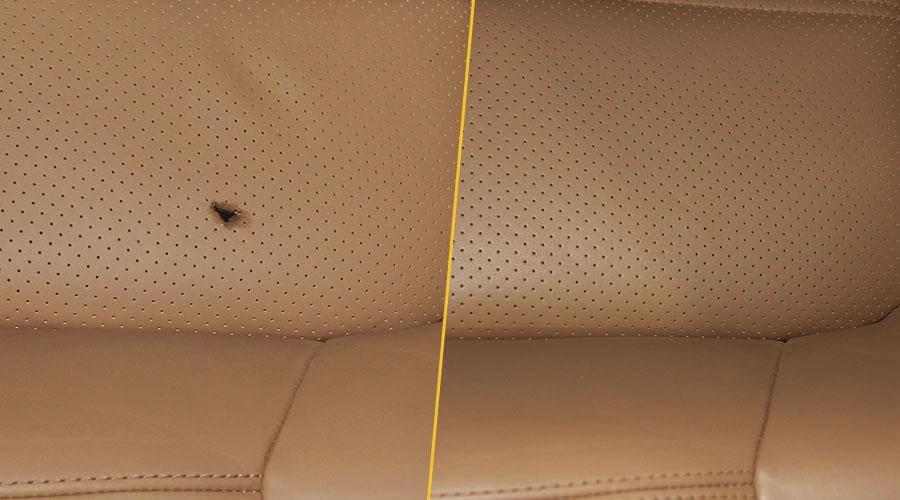 Ремонт пореза на сиденье Porshe Cayenne