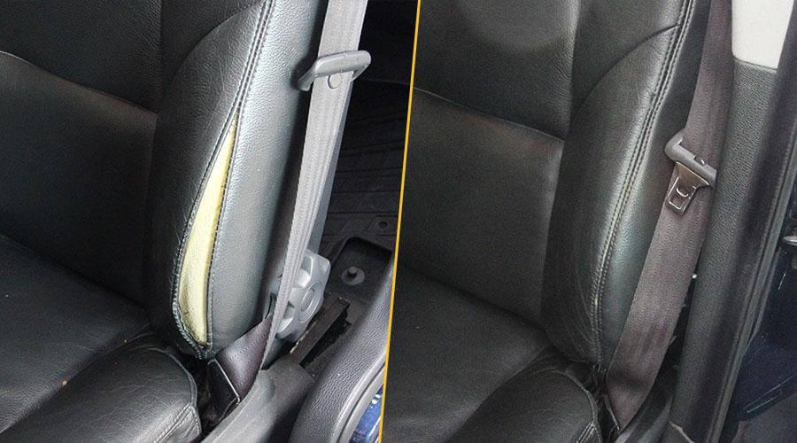 Восстановление шва на сиденье Volvo S70