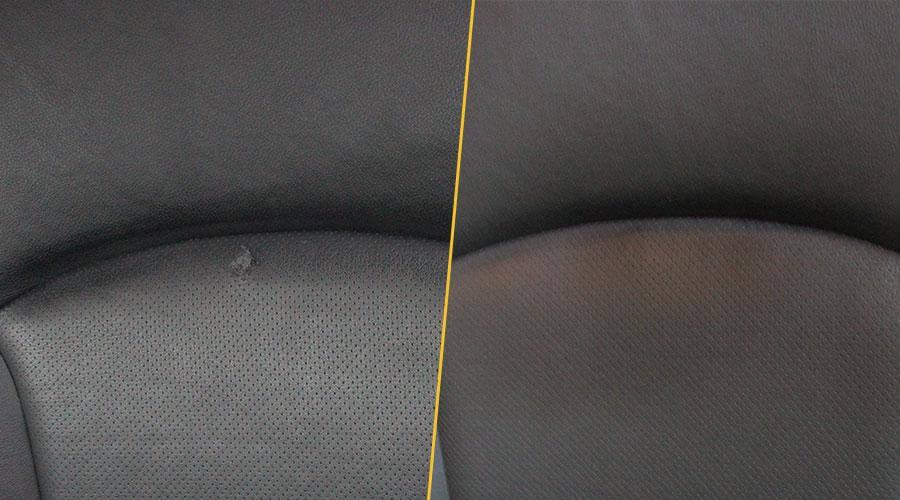 Ремонт пореза на сиденье Subaru Forester