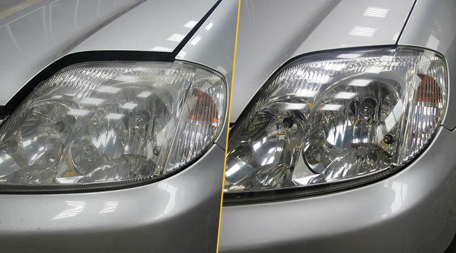 Восстановительная полировка фар Toyota Corolla