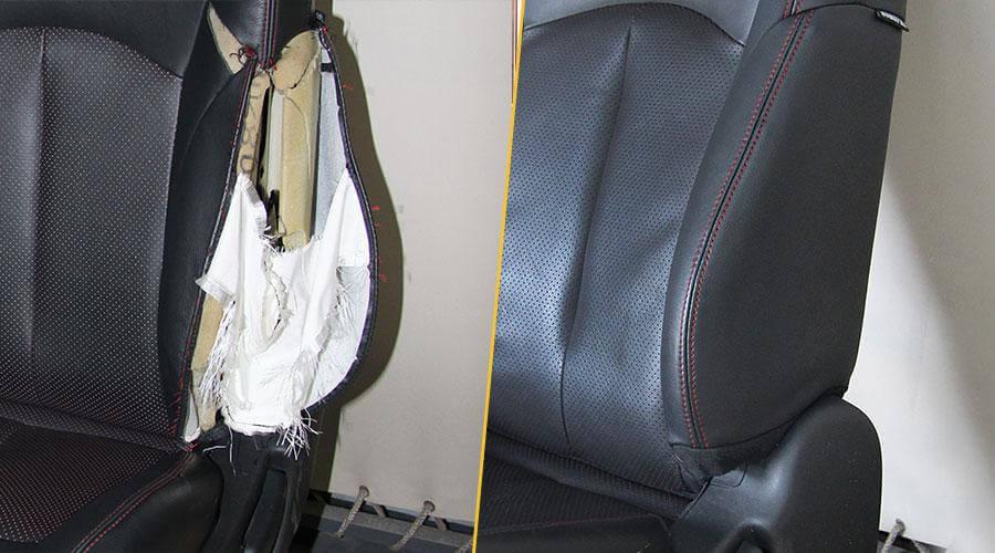 Восстановление шва на сиденье