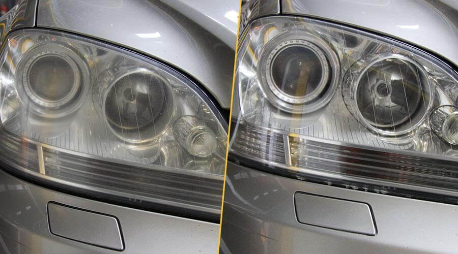 Полировка фар Mercedes ML