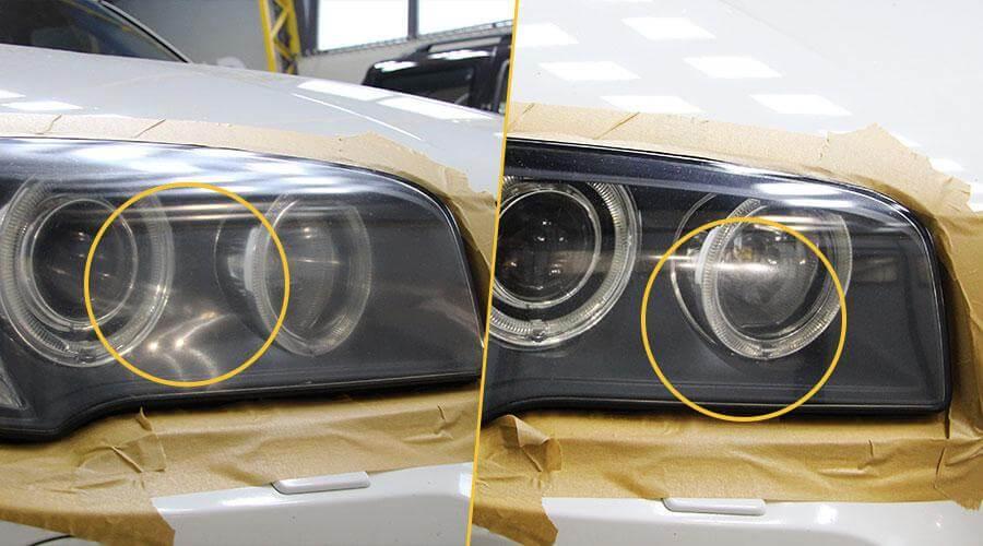 Восстановительная полировка авто BMW