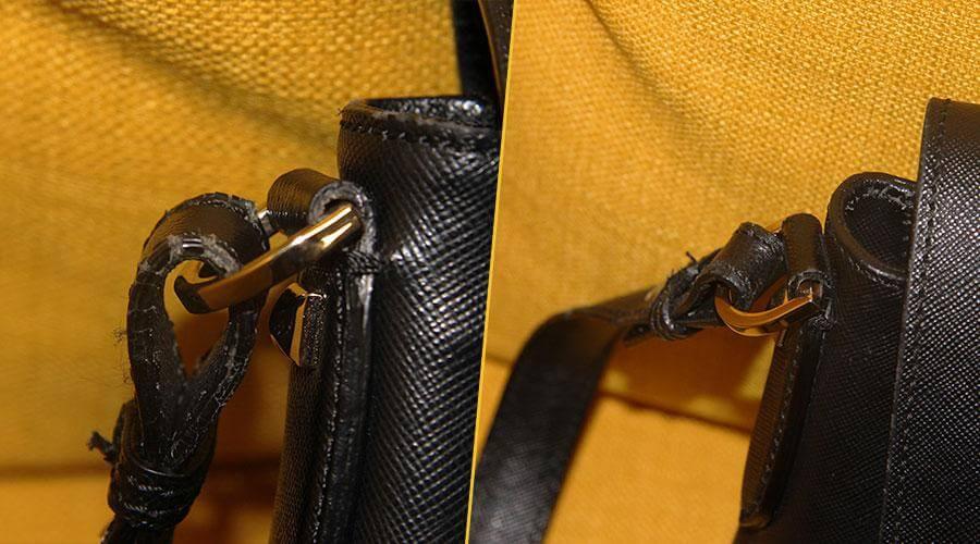 Ремонт кожаной сумки
