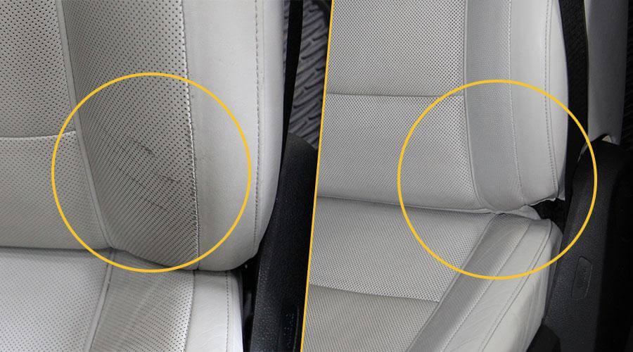 Чистка, локальная покраска и кондиционирование сиденья BMW 750 Individual