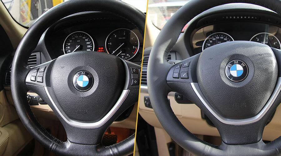 Окрашивание руля BMW X5