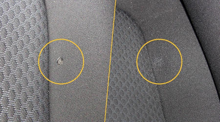 Удаление прожога на ткани Volkswagen Polo