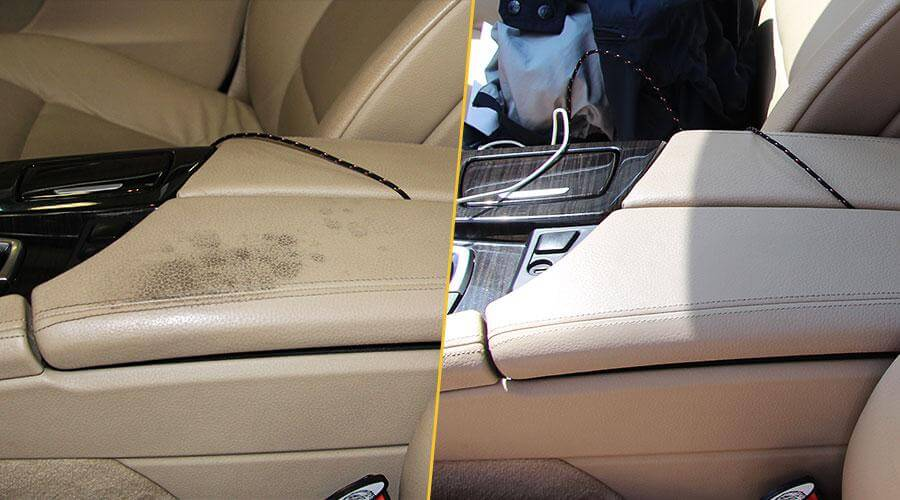 Покраска центрального подлокотника и подлокотника на двери BMW 523i