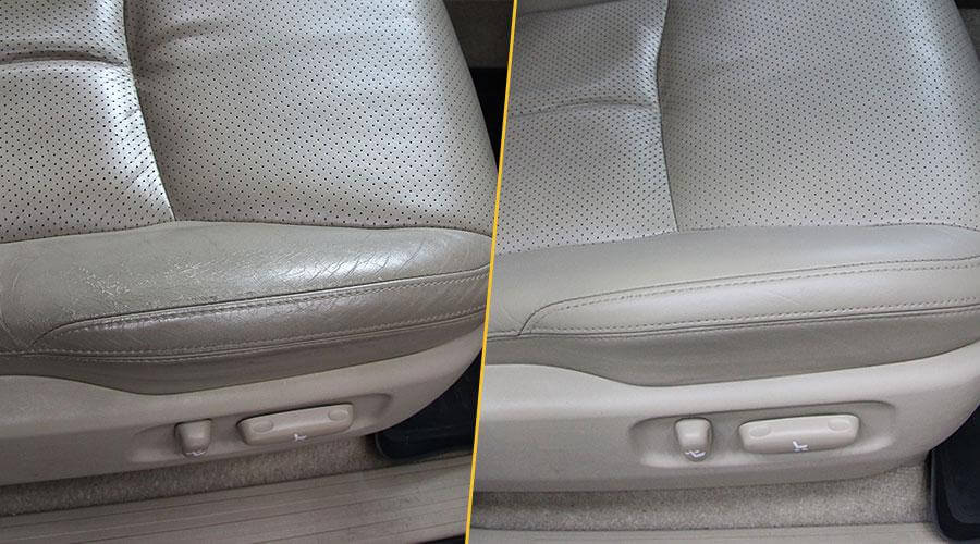 Локальная покраска сиденья Toyota Land Cruiser Prado