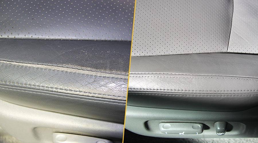 Локальная покраска сиденья Toyota Prado
