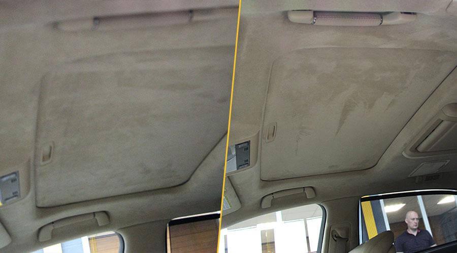 Локальная химчистка потолка Lexus LS-460