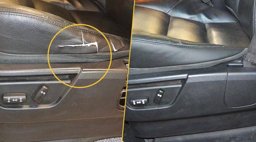 Замена элемента подушки кресла и перетяжка подлокотника Range Rover