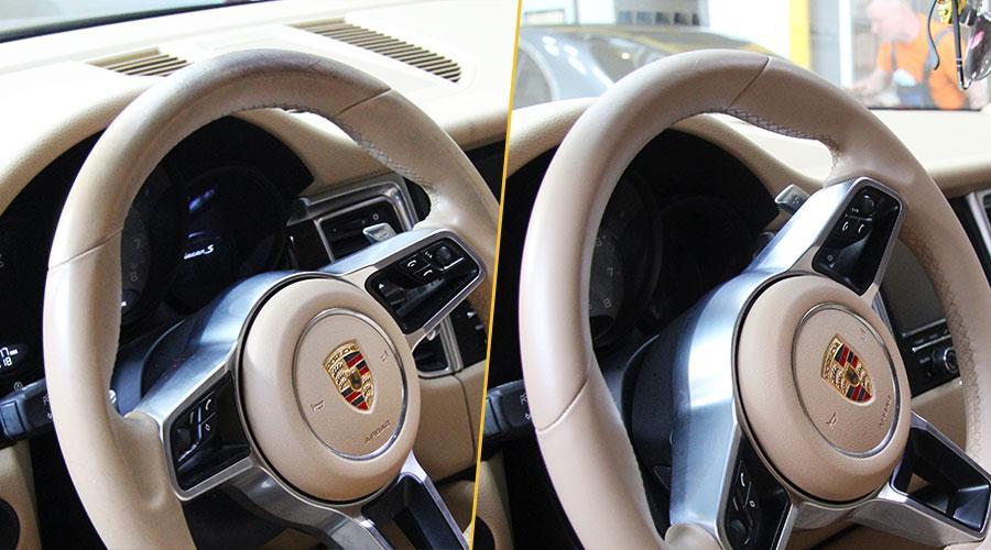 Покраска руля Porsche Macan
