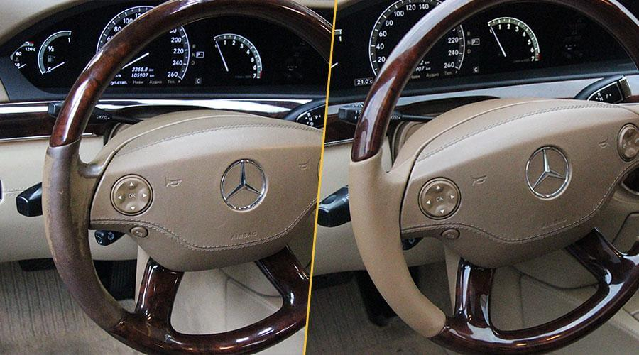 Покраска руля Mercedes S500