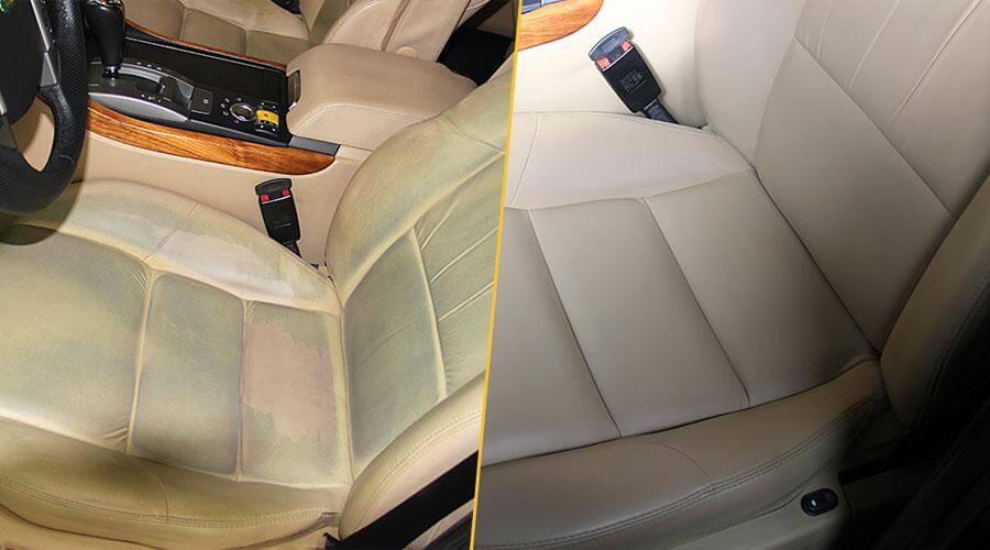 Покраска двух передних кресел Range Rover