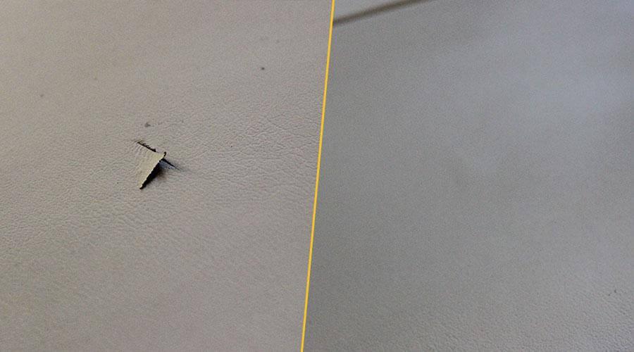 Устранение разрыва на обивке сиденья Lexus NX300
