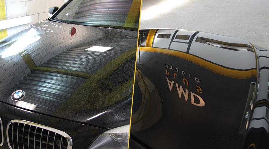 Абразивная полировка кузова BMW 750