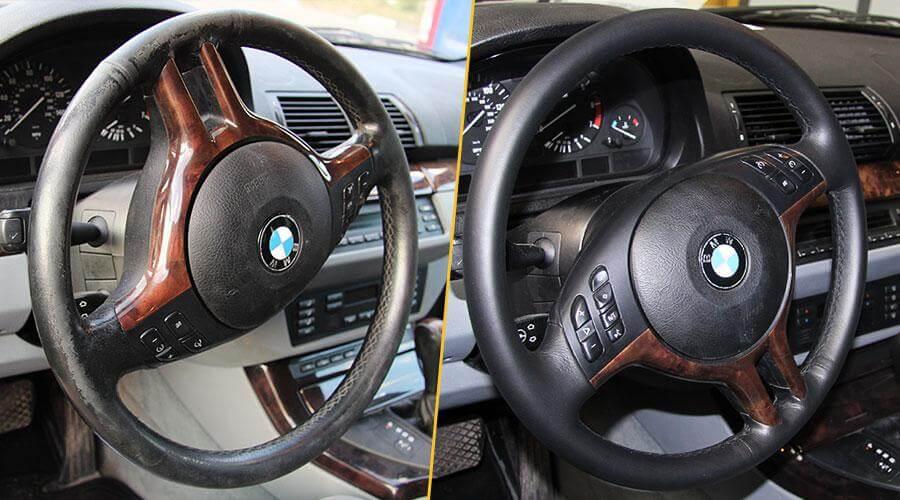 Покраска обода руля BMW