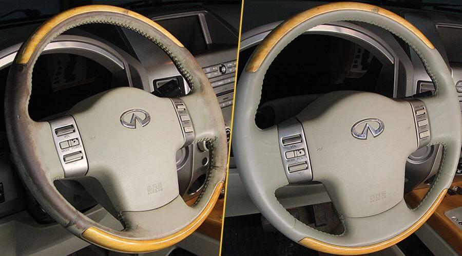 Покраска рулевого колеса Infinity QX56