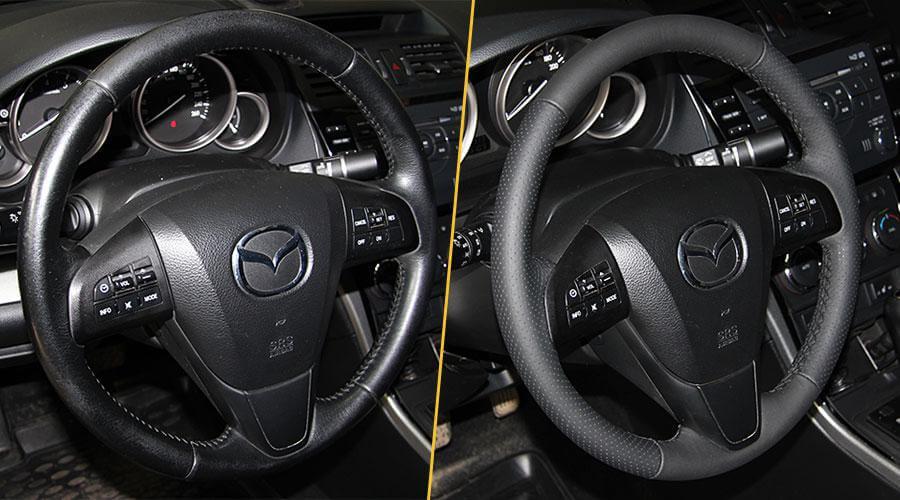 Перетяжка обода рулевого колеса Mazda 6