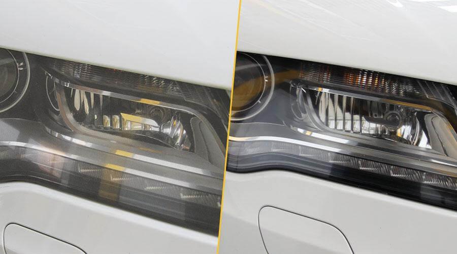 Полировка 2х передних фар с нанесением покрытия Audi A7